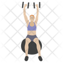 Dumbbells Exercise Push Ups Bicep Muscles Icon