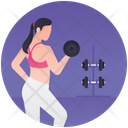 Dumbbells Exercise Weightlifting Gym Workout Icon