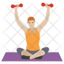 Dumbbells Exercise Icon