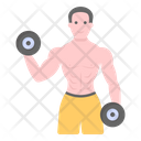 Dumbbells Exercise Dumbbell Lifting Icon