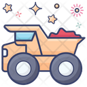 Pickup Truck Dump Truck Trash Container Icon