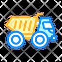 Articulated Dumper Color Icon