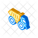 Articulated Dumper Isometric Icon