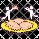 Dumpling Food Edible Icon
