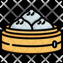 Dumpling Streamed Bun Chinese New Year Icon