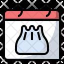 Dumpling Food Calendar Icon