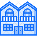Duplex Building Architecture Icon