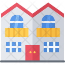 Duplex Building House Icon