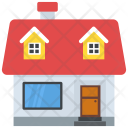 Bungalow Duplex House Icon