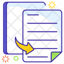 Duplicate Content File Copy File Swipe Icon