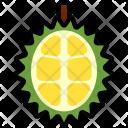 Durian Half Fruit Icon