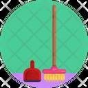 Dust Pan Broom Brush Icon