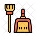 Dust Broom Cleaning Icon