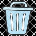 Dustbin Rubbish Bin Litter Bin Icon