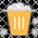 Plastic Waste Dustbin Trash Icon