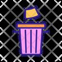 Wc Contour Garbage Icon