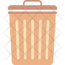 Dustbin Garbage Can Recycling Icon