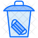 Throw Face Mask Dustbin Garbage Icon