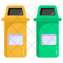 Trash Cans Dustbins Waste Bins Icon