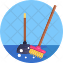 Dustpan Broom Cleaning Icon