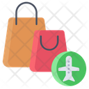 Duty Free Hand Bag Purse Icon