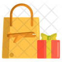 Duty Free Hand Bag Gift Icon