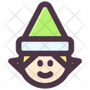 Christmas Dwarf Elf Icon