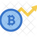 Dynamic Bitcoin Bitcoin Growth Cryptocurrency Graph Icon