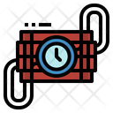 Dynamite Terrorism Detonation Icon