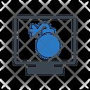 Danger Malware Lcd Icon