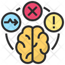 Dysfunction Abnormal Brain Icon