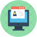 E Learning Monitor Icon