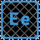 E Latin Letter Icon