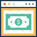 Banking Online Dollar Icon