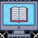 E Book Online Reading Monitor Icon