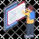 Online Study E Book E Learning Icon