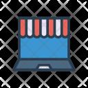 E Commerce Laptop Shopping Icon