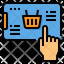 Online Shopping Smart Phone Basket Icon