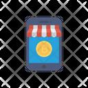 E Commerce Bitcoin Online Icon