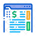 Money Folder Documents Icon