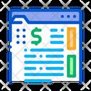 Money Folder Documents Icon