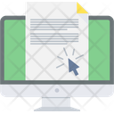 E Document Document Electronic Icon