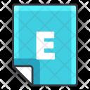E file Icon