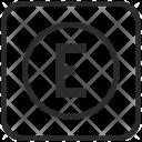 Letter E Keyboard Icon