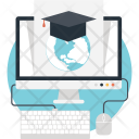Online Degree Elearning Icon