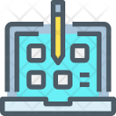 E Learning Learning Study Icon