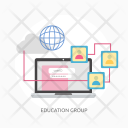 Education Group E Learning Icon