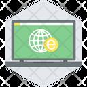E Study Globe World Icon