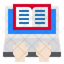 Open Book Hands Keyboard Icon