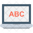 Learning Laptop Abc Icon